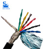 12 core 0.2mm2 pvc sheathe copper double shielded control 6 pair twisted cable