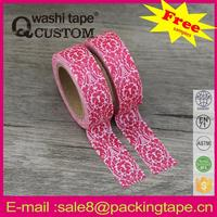 gorgeous new design pressure sensitive rubber-based adhesive masking tape promotion party decoration tape