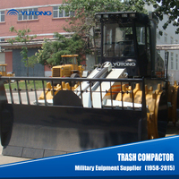 Manual garbage landfill compactor truck