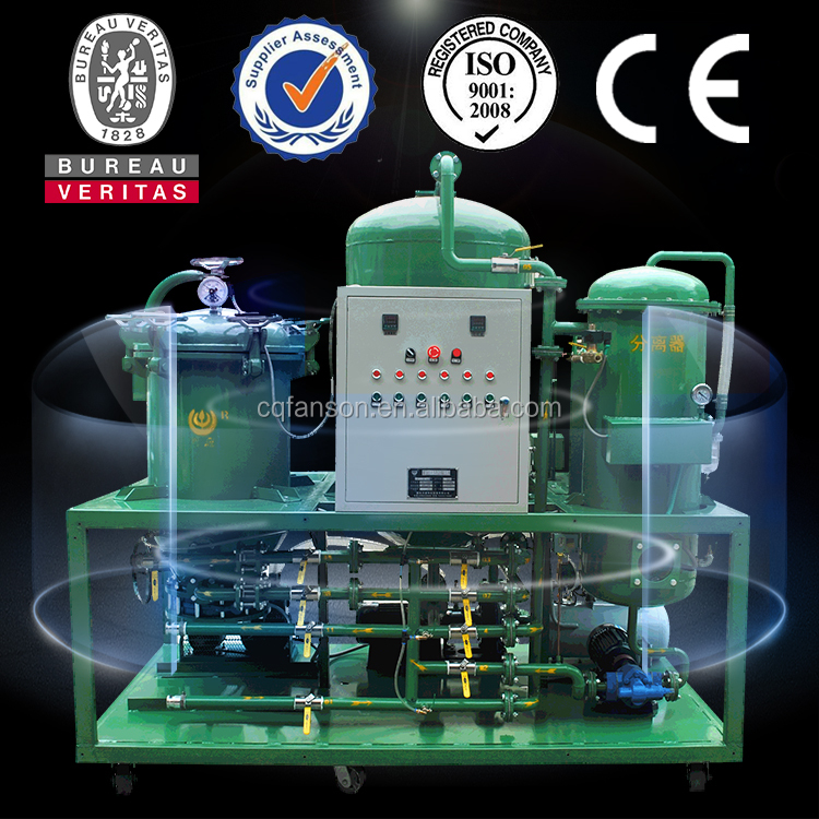 Remove water and bad smell used transformer oil centrifuging machine