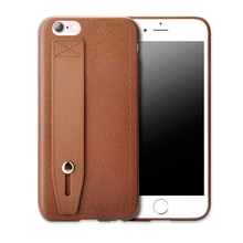 Leather texture kickstand tpu mobile phone case for iphone 8