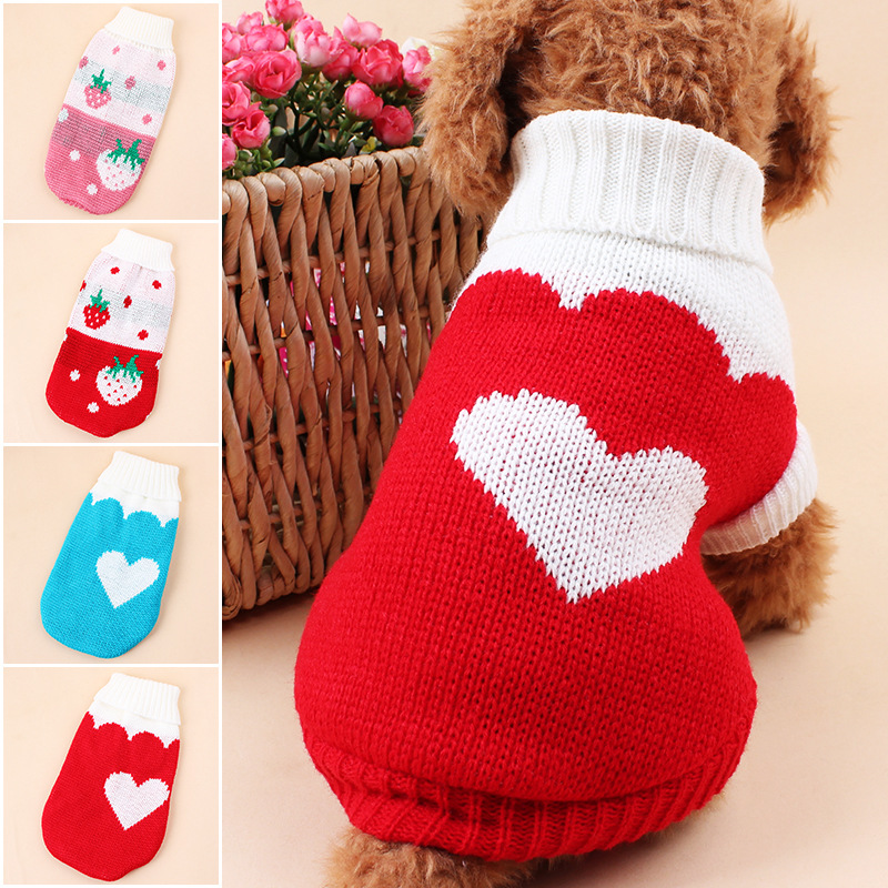 hot sale wholesale Classic lapel puppy knit dog sweater