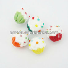 Mixed Color Cake Shape Lampwork Glass Beads For Valentine