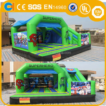Superhero Inflatable Bouncy Castle, Hero Inflatable Bouncing Castle