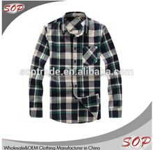 Fashion cotton autumn clothing grid shirt boys long sleeve checked blouse shirts