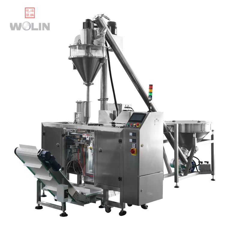 Full milk powder packing line with Auger weight filler and doypack packing machine