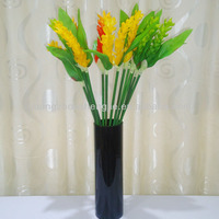 Sleek realistic factory direct artificial garden flower, white ginger lily, red flower, green flower, yellow flower