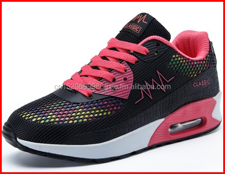 Newest style fashion popular womens black sneakers