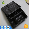 black PS material 4 compartment plastic food tray with lid