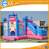 Hot blue and pink funny Princess inflatable bouncy castle,inflatable bouncer slide for sale