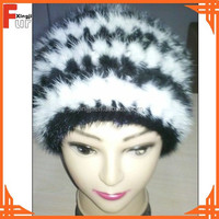 Fur Animal Hat Knitted Mink Tail