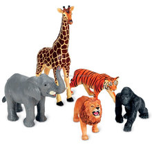 Zoo World Realistic Wild Vinyl Pastic Animal Learning Resource Party Favors Toys