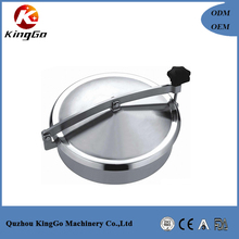 Stainless steel beverage tank manhole cover