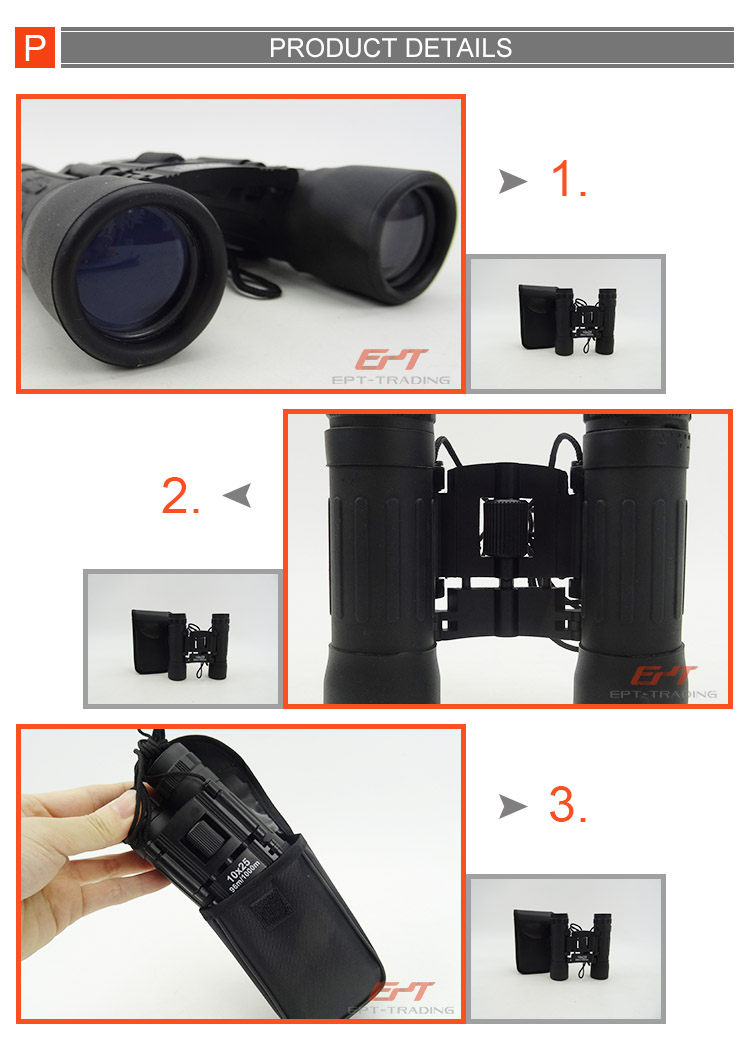 Top quality outdoor alloy mini structure binocular telescope for kids