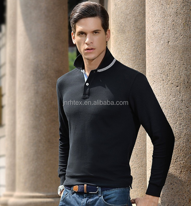 Cotton pique solid color men fashion 2015 polo,polo shirt with high quality