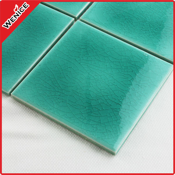 green ceramic mosaic tile with picture