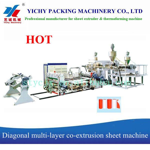 YC120/90/70-1400 Multi-layer plastic co-extrusion sheet machine