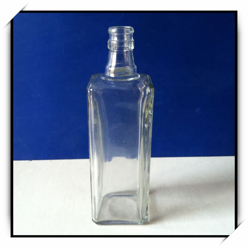 Dahua square empty wine bottles glass material dh530 buy for Wine bottle material