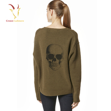 Girl Fashion Skull Printed Sweater Knitted Sweater