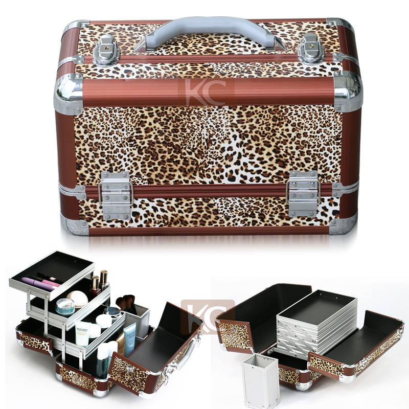 PVC leather train travel carrying salon tool hairdressing carry cases hair packaging boxes packaging box for hair extension