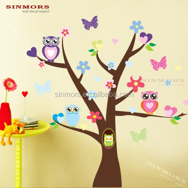 Oak Family Tree Wall Decal sticker for Tree Wall Mural/wall cling/