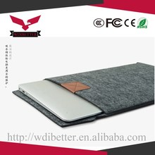 Hot Selling Fashion Design Wool Felt Bags Sleeve For Macbook Air Tablet Laptop