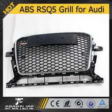 Auto ABS Chrome Frame RSQ5 Honeycomb Mesh Front Grill for Audi Q5 2013 2014