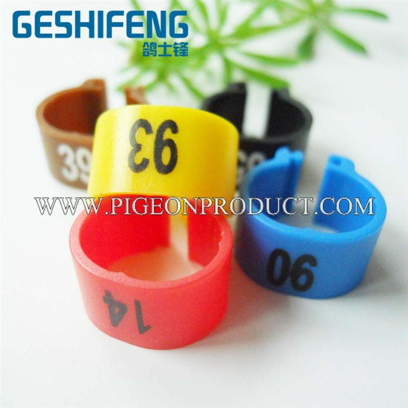 high quality clip plastic birds leg ring rfid pigeon tag for identification soft pvc bird shape design key ring