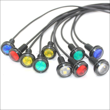 Led Waterproof Eagle Eye 12 Volt Light 18mm 23mm red green blue amber daytime running light eagle eye led tail lamp