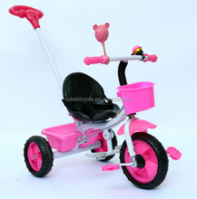 Factory Wholesale stock stroler baby pram tricycle / ride on toy tricycle for children / cheap kids tricycle bikes with handle