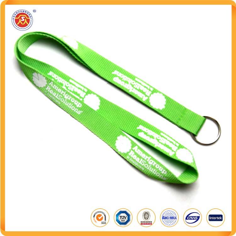 Professional manufacturer polyester material neck sublimation lanyards with north face lanyard