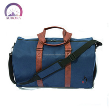 PU Leather hand waterproof Outdoor Travel Duffle Bag
