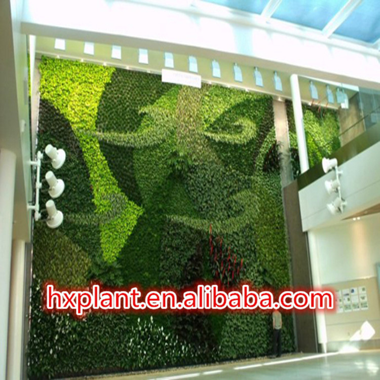 2016 hot sale big artificial grass wall fake plant for Artificial plants indoor decoration