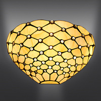 Tiffany Style Bead Stained Glass Wall Lamp Indoors Light Deco Lamp