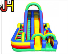 Hot sale bounce house combos inflatable obstacle funhouse with slide