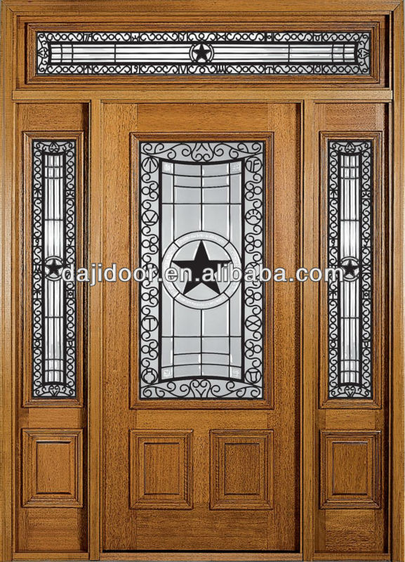 Two Side Lite With Transom Exterior Door Styles DJ-S9113MSTHS-3