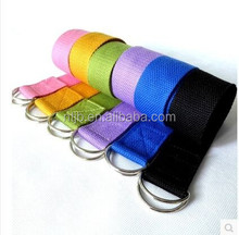 100% cotton colorized yoga stretching band