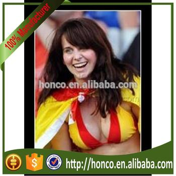 Spain color football girl sexy bra for 2018 World Cup