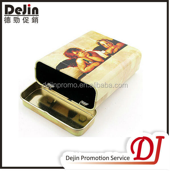 Custom timed cigarette pack tin box