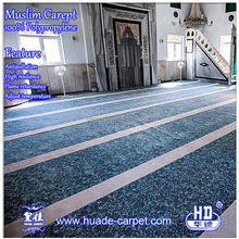 Traditional Prayer Blue Carpet for Mosque /Masjid Interior Design Carpet and Rug