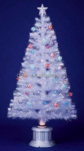 2ft-7ft White Fiber Optic Chrsitmas Tree Decoration, Holiday Artificial Christmas Tree
