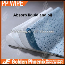 Meltblown nonwoven cleaning wipes for Industrial