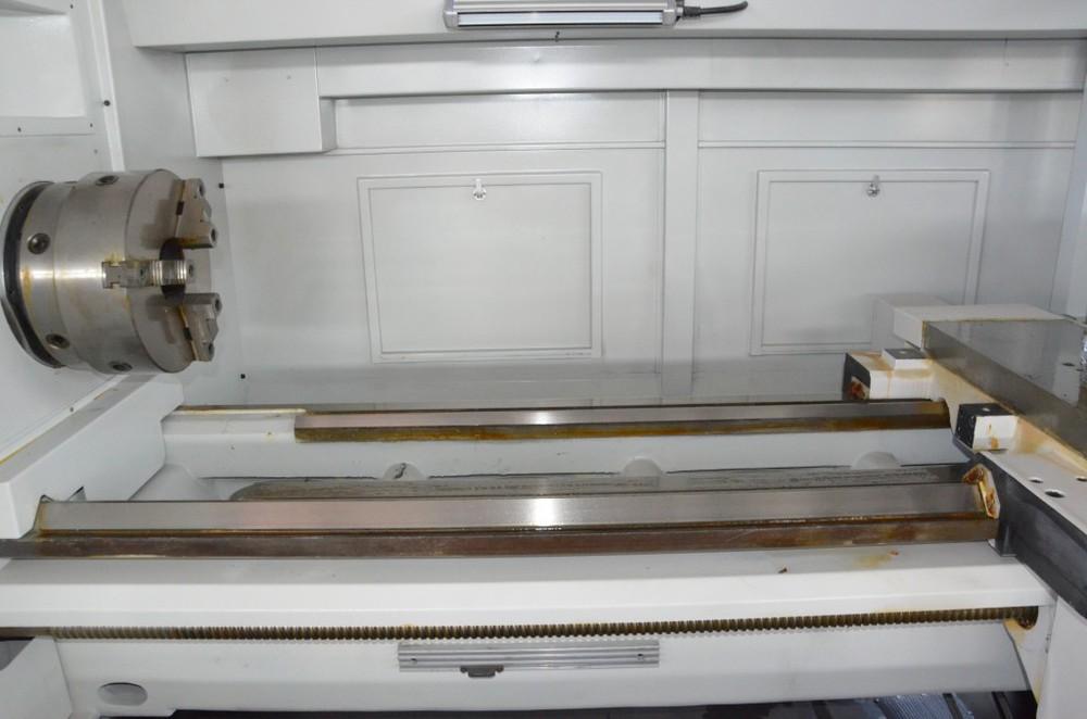 CK6163G Laser de Renishaw que prueba el agujero grande a través del torno del torneado del CNC del eje