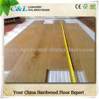 C&L natural color white oak engineered wood flooring
