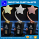 2015 Newly Elegant Black Crystal Star Trophy