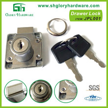 Office desk drawer lock, zinc alloy drawer lock, D19*22MM