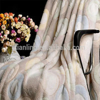 Circle Embossed Fleece Warm Blanket