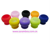 V3.0 Mini Mushroom Speaker Silicone Suction Cup Bluetooth Speaker with Built-in 550Mah Rechargeable Battery Showering Music