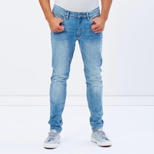 fashion latest design jeans pants casual wear blue plain jeans for men