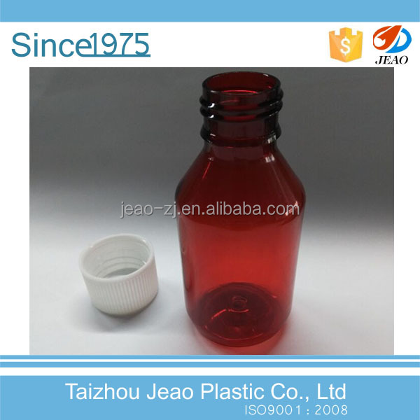 China manufacturer E-54 120ml PET brown plastic syrup <strong>bottle</strong> with screw cap for Pharmaceutical